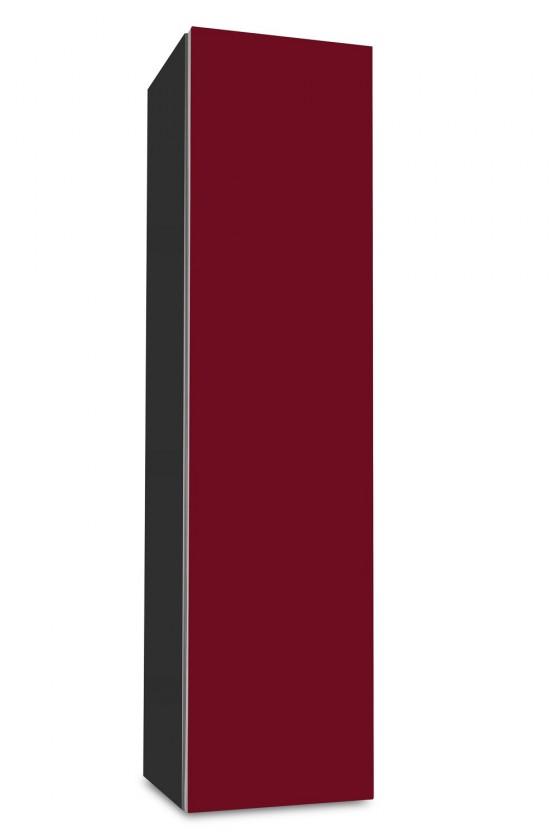 Závesná Brisbane - závesná skriňa nízka,pánty vpravo (antracit/bordó)