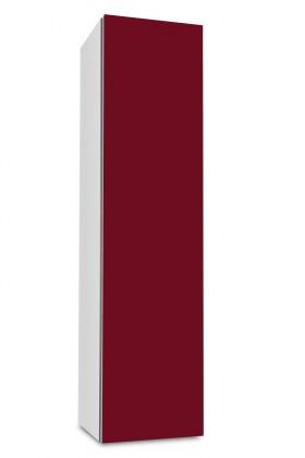 Závesná Brisbane - závesná skriňa nízka,pánty vpravo (biela/bordó)