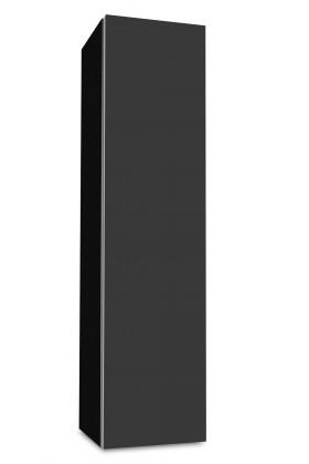 Závesná Brisbane - závesná skriňa nízka,pánty vpravo (čierna/antracit)
