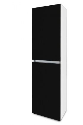 Závesná Brisbane - závesná skriňa vysoká,pánty vľavo (biela/čierna)