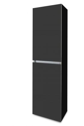 Závesná Brisbane - závesná skriňa vysoká,pánty vľavo (čierna/antracit)