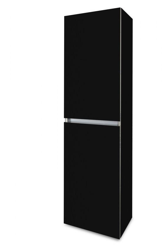 Závesná Brisbane - závesná skriňa vysoká,pánty vľavo (čierna)