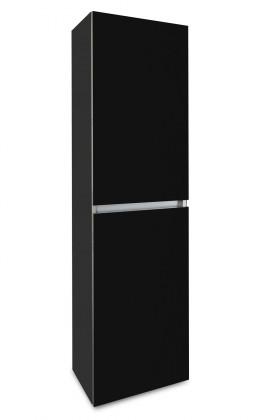 Závesná Brisbane - závesná skriňa vysoká,pánty vpravo (antracit/čierna)