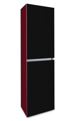 Závesná Brisbane - závesná skriňa vysoká,pánty vpravo (bordó/čierna)