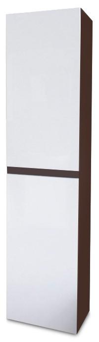 Závesná Luis - Závesná skrinka vysoká SD 64 (biela lesk/wenge)