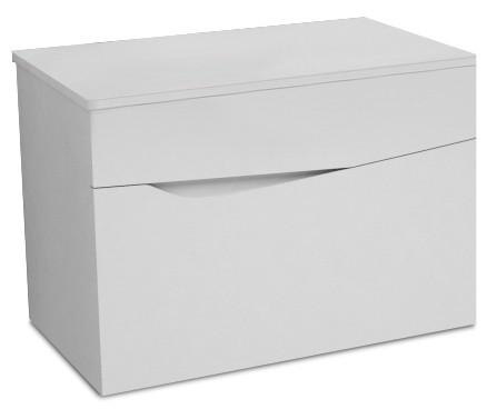 Závesná Nice - Skrinka, 2 zásuvky (biela vysoký lesk)