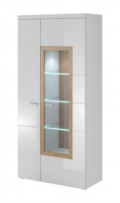 Závesná skrinka Box In - Vitrína 2 dvere, 1 dvere presklenné