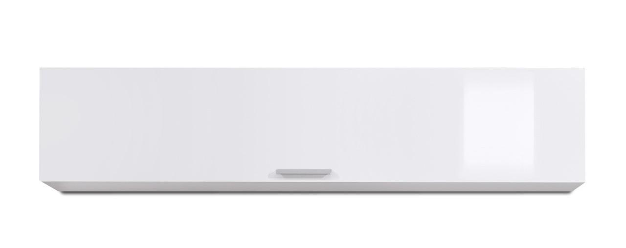 Závesná skrinka Game plus - závesný prvok s klopňou, 150 cm (biela/biela lak HG)