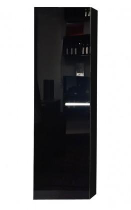 Závesná skrinka Game - Závesný prvok (čierna / čierna sklo GS)