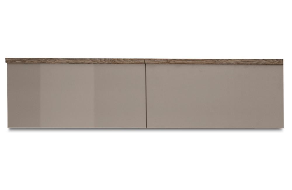 Závesná skrinka Linea - závesný prvok, 120 cm (dub tmavý/sivý kam.lak/dub tmavý)