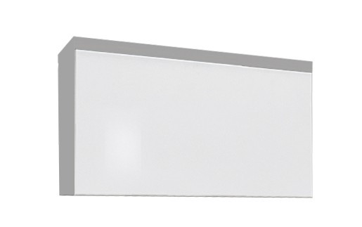 Závesná skrinka Linea - Závesný prvok (biela / biela HG / strieborná)