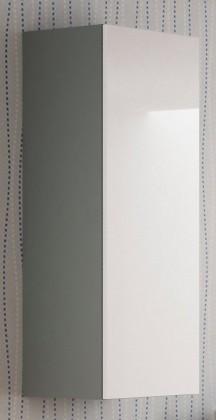 Závesná skrinka Livo - Závesná skrinka 120 (šedá mat/bílá lesk)