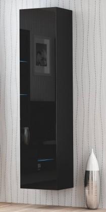 Závesná skrinka Livo - Závesná skrinka 180 (černá mat/černá lesk)