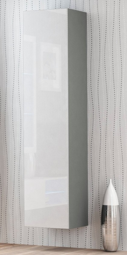 Závesná skrinka Livo - Závesná skrinka 180 (šedá mat/bílá lesk)