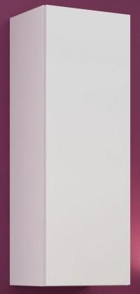 Závesná skrinka Vigo - Vitrína závesná, 1x dvere (biela mat/biela VL)