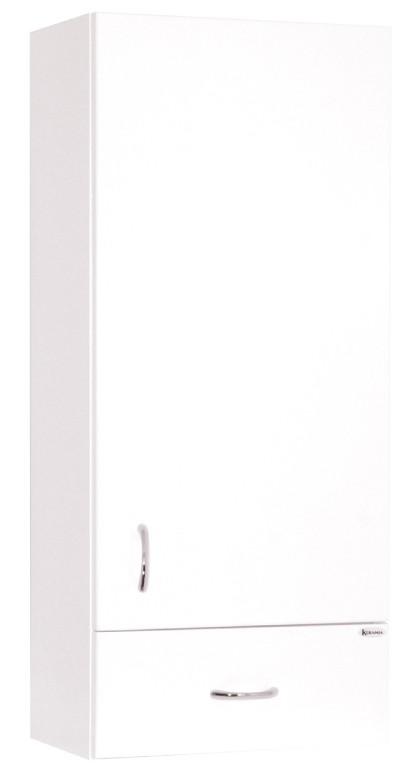 Závesné skrinky do kúpeľne Kúpeľňová skrinka Cara Mia závesná (35x80x21,6 cm, biela, lesk)
