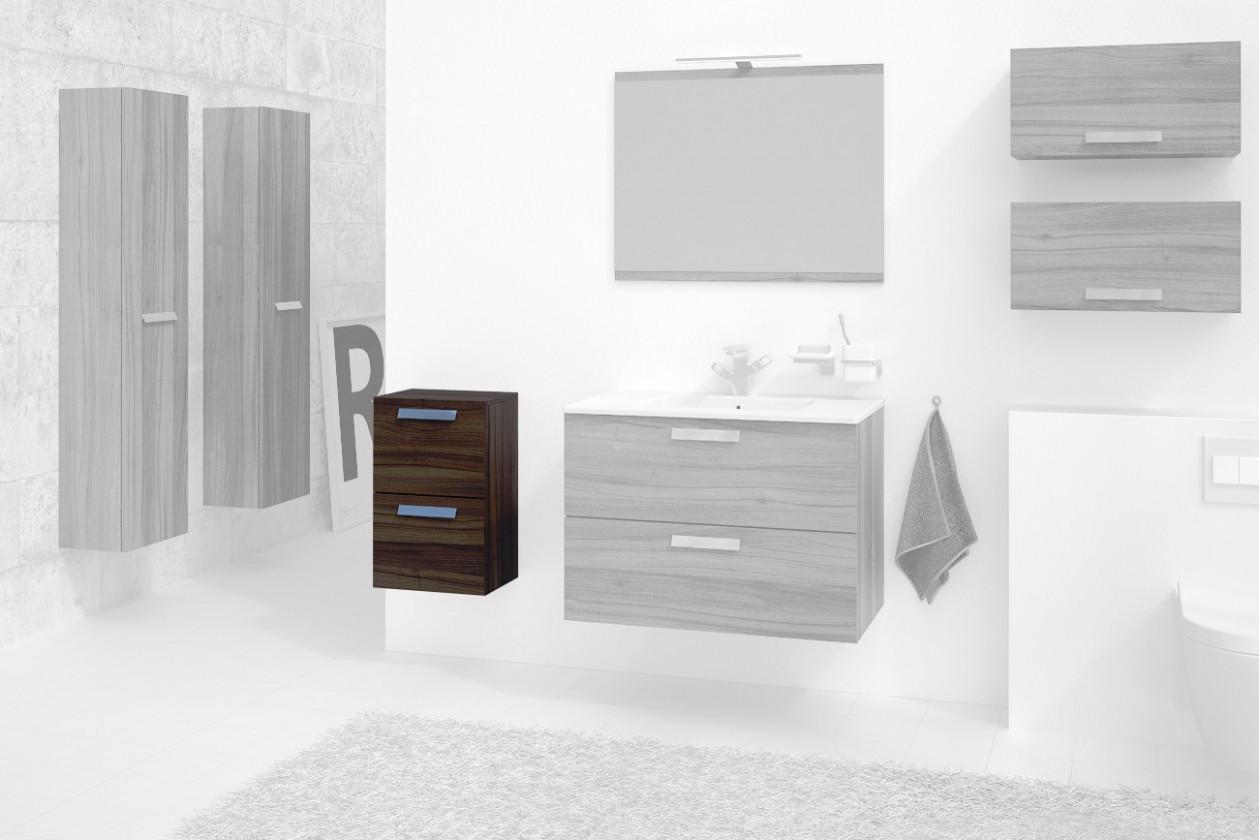 Závesné skrinky do kúpeľne Kúpeľňová skrinka Montpellier (orech)