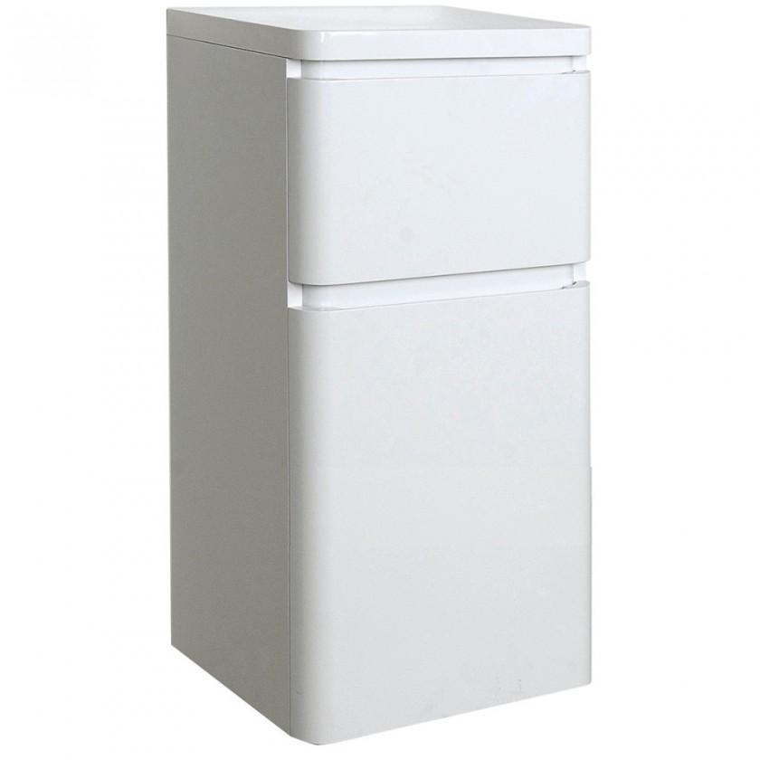 Závesné skrinky do kúpeľne Kúpeľňová skrinka Praya závesná (40x75,8x45 cm, biela, lesk)