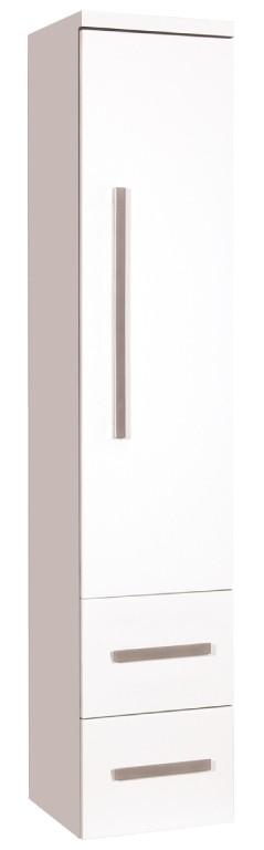 Závesné skrinky do kúpeľne Kúpeľňová skrinka Tiera závesná (32,5x163x33 cm, biela, lesk)