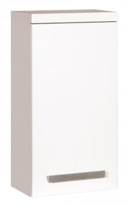Závesné skrinky do kúpeľne Kúpeľňová skrinka Tiera závesná (32,5x63x20 cm, biela, lesk)