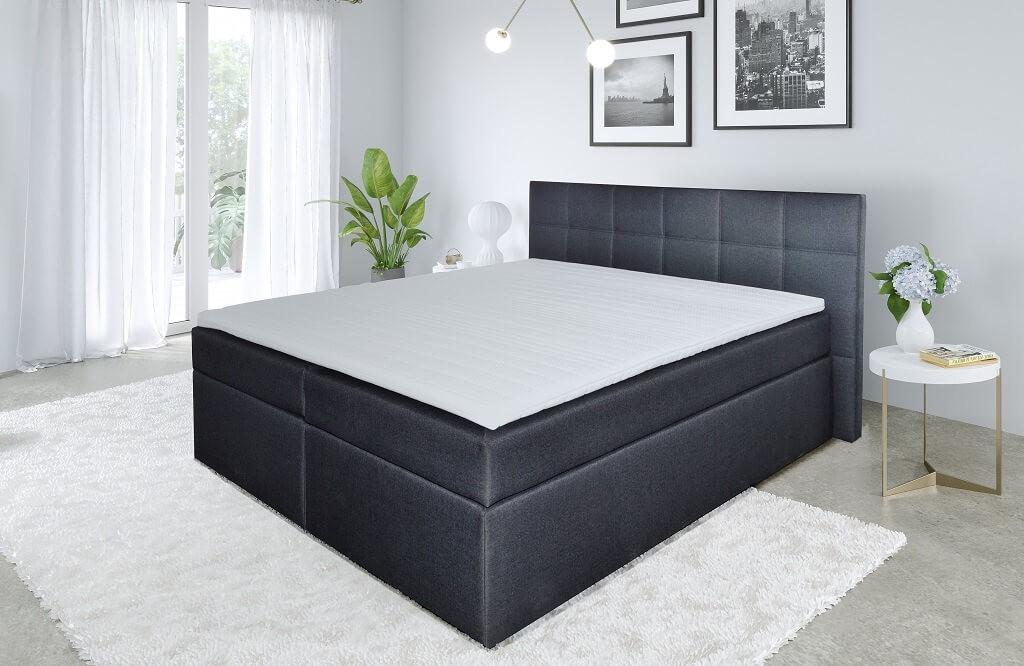 Zľavnené postele Posteľ Boxspring Bea 180x200, vrátane matracov a topperu-II.akosť