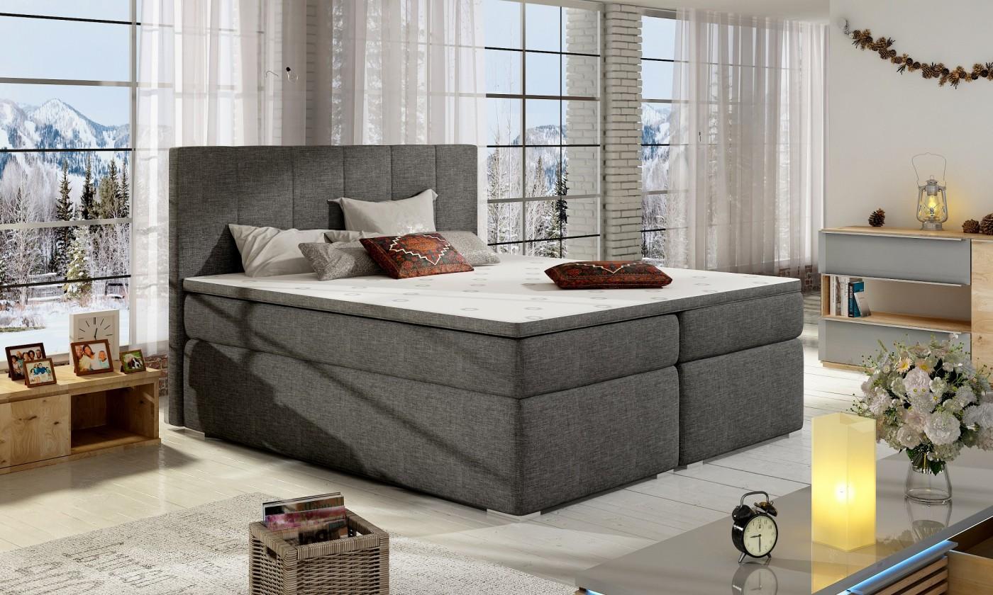 Zľavnené postele Posteľ Boxspring Bolero 180x200, vr.mat.,topperu a úp - VYSTAVENÉ