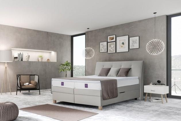 Zľavnené postele Posteľ Boxspring Charles 180x200 cm, ÚP - VYSTAVENÉ - II. akosť