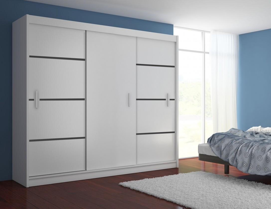 Zľavnené skrine Multi - Skriňa 250/215/61 (biela)