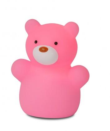 Zoo - lampička, Bear, 1W, LED (ružová)