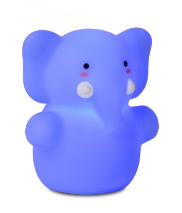 Zoo - lampička, Elephant, 1W, LED (modrá)