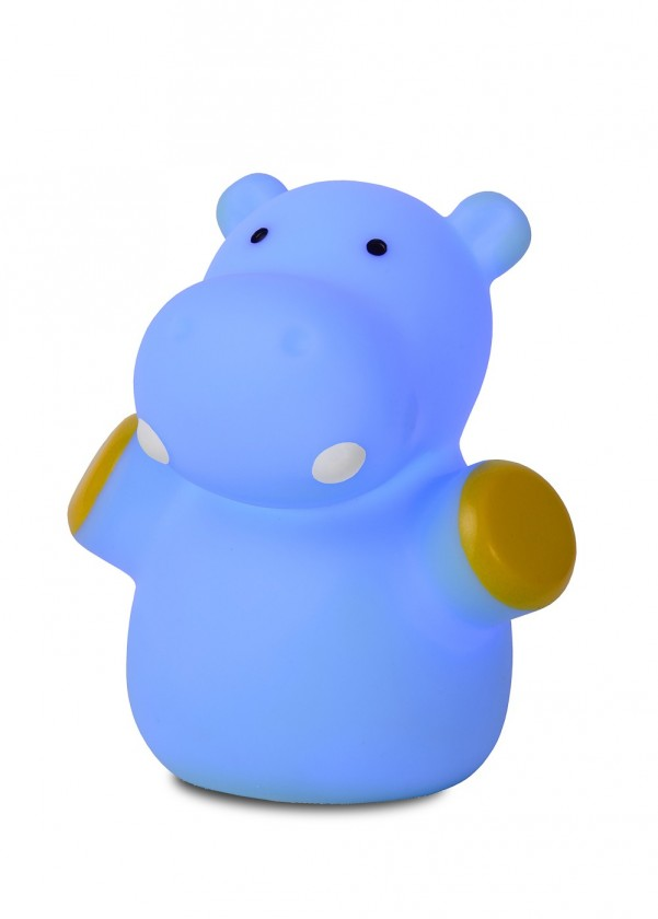 Zoo - lampička, Hipoo, 1W, LED (modrá)