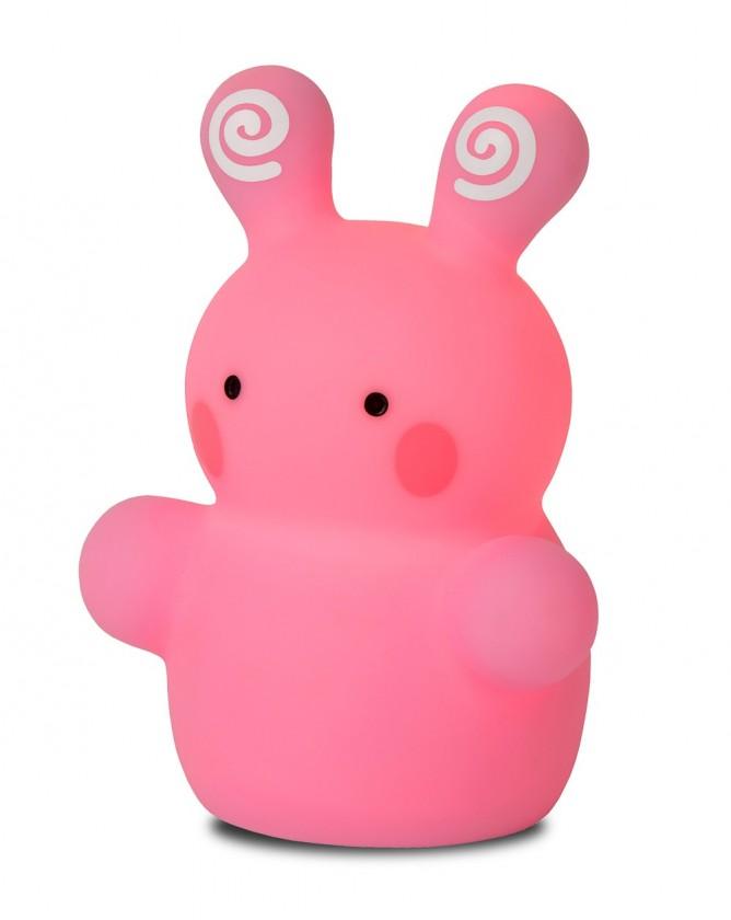 Zoo - lampička, Rabbit, 1W, LED (ružová)