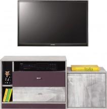 Zoom - TV stolík ZM8 (antic, fialová)