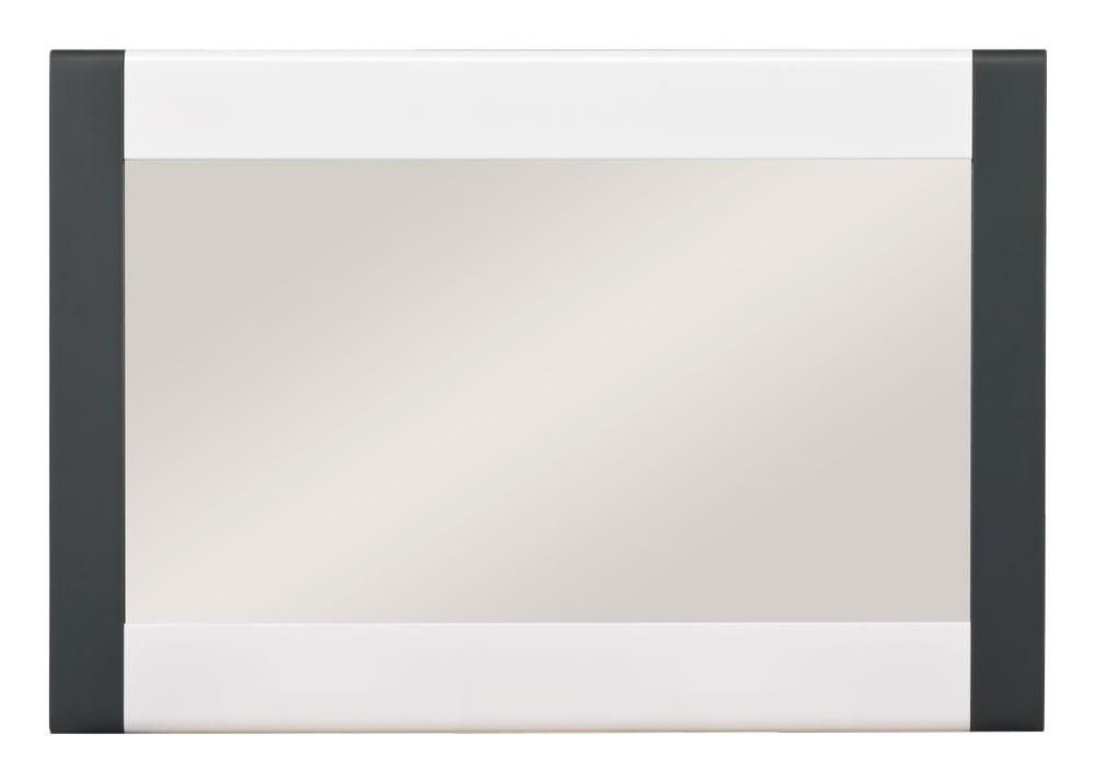 Zrkadlo Anita - NA 10, Zrkadlo (dub sonoma/biela lesk, grafit)