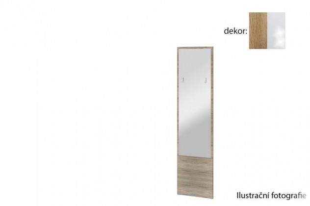 Zrkadlo Arya Typ 09(dub san remo rustic/biela arctic vysoký lesk)