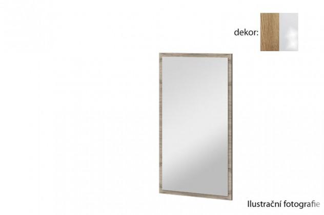 Zrkadlo Arya Typ 10(dub san remo rustic/biela arctic vysoký lesk)