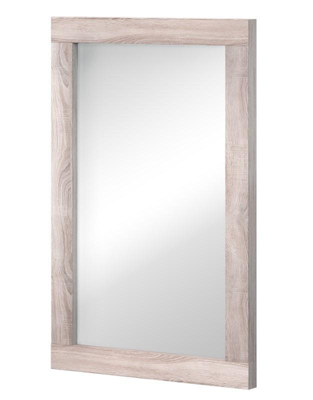 Zrkadlo Clark Typ 16 (dub bardolino/biela arctic vysoký lesk)
