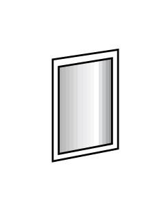 Zrkadlo Davos - zrkadlo (alpská biela 734)