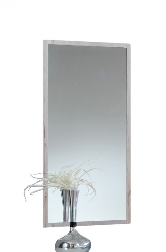 Zrkadlo Susan 803919(803 - biely dub, chrómové doplnky )