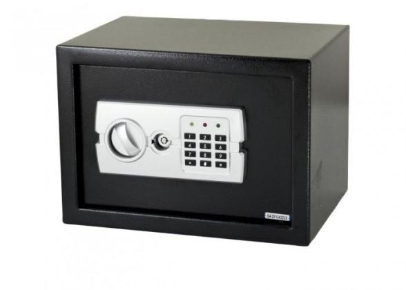 Zvončeky, alarmy, trezory ZLACNENÉ G21 Digitálne trezor (GA-25E) POUŽITÝ, NEOPOTREBOVANÝ TOVAR