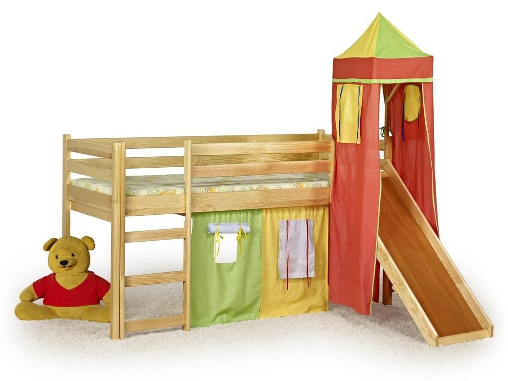 Zvýšená posteľ Flo (borovice)