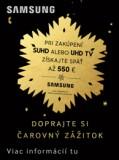 Získaj príspevok až 550 EUR na nový televízor Samsung