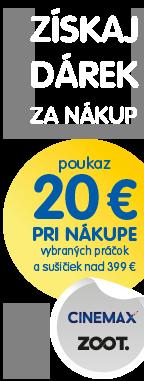 Poukaz 20 € pri nákupe