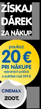 Poukaz 20 € pri nákupe 2