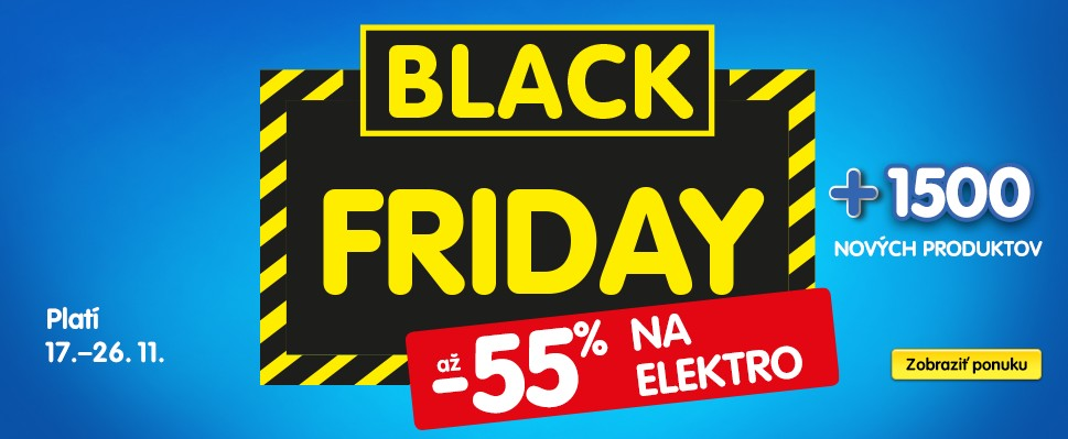 Black Friday v OKAY: Elektro so zľavou až 55 %!