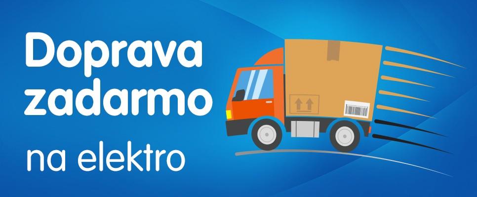 Doprava zadarmo na elektro v hodnote od 39 €. Len 19.-21. januára!