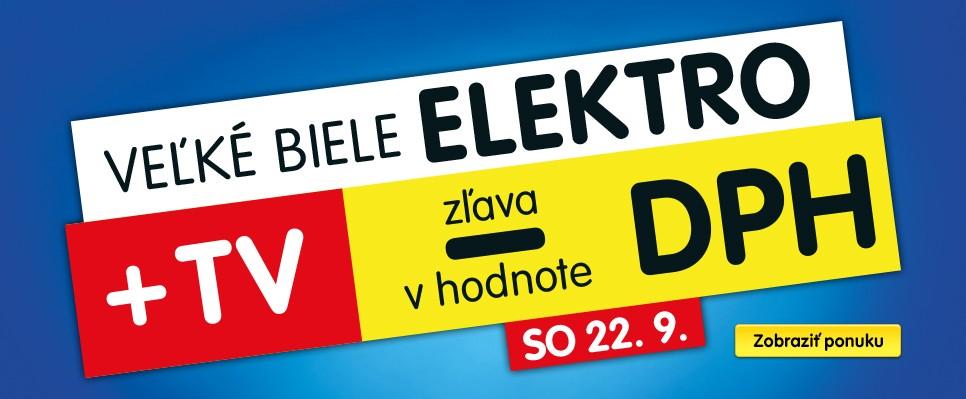 Veľké biele elektro a TV so zľavou v hodnote DPH